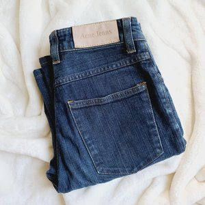 Acne Jeans Tube DC Faded Denim Straight Leg Jeans
